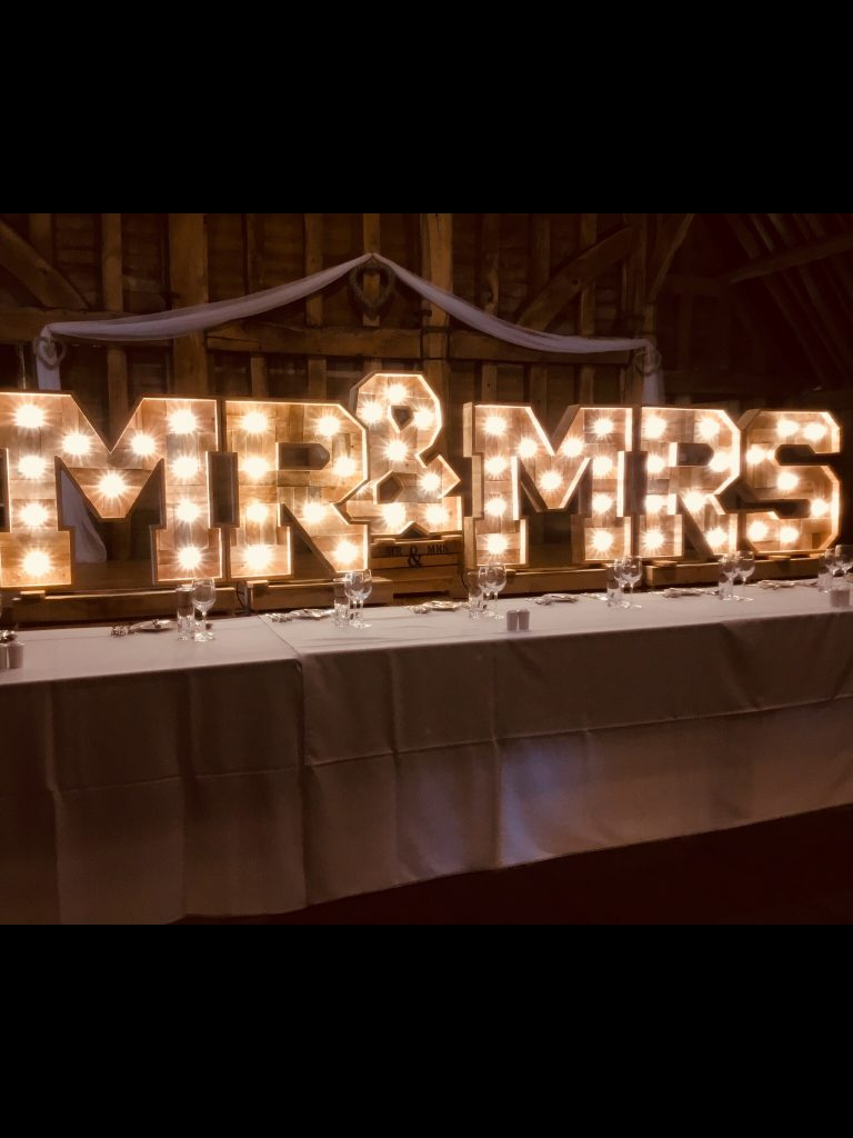 rustic mr & mrs