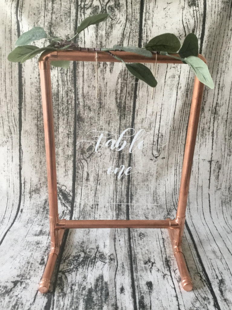 copper table number